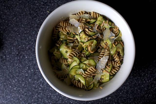 zucchini and almond pasta salad – smitten kitchen