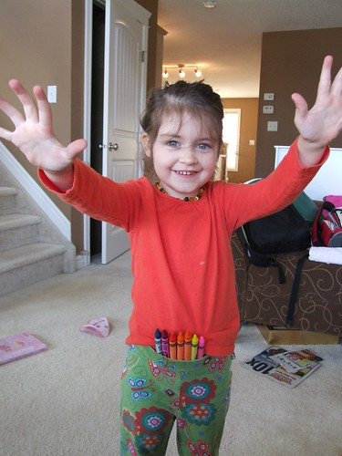 Crayons in her Pants