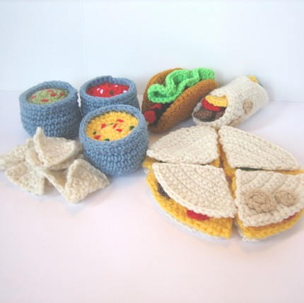 Crocheted Mexican Food