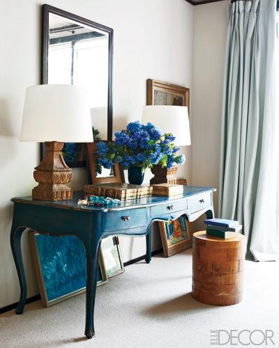 Jesse Carrier Fielden house Elle Decor bedroom