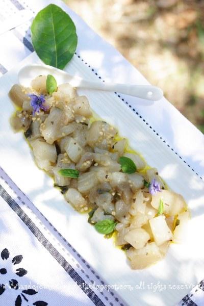 Eggplant and herbs salad