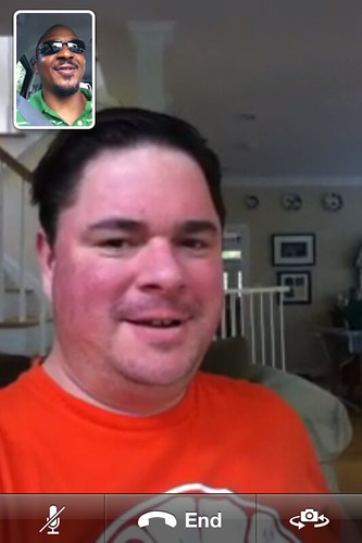 First time FaceTime with @davidbthomas