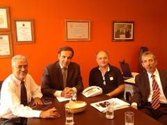gabinete Hugo Leal - Brasilia 02/02/2011 - Antonio Pires / Deputado Hugo Leal / Marcos Falconi / Robson Cardnelli
