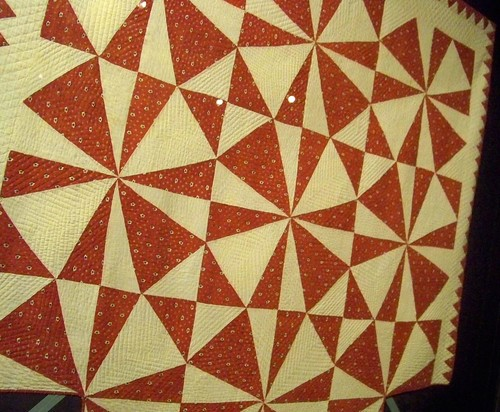 antique red and white quilt - shelburne museum collection