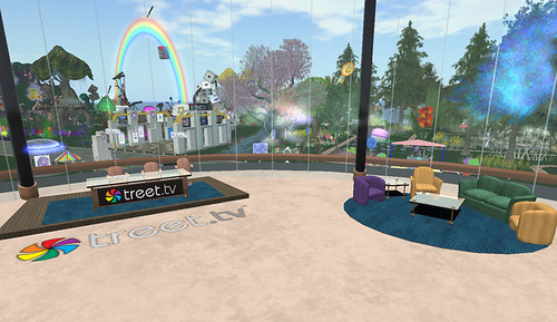 Inside the Treet studio at Relay for Life in Second Life