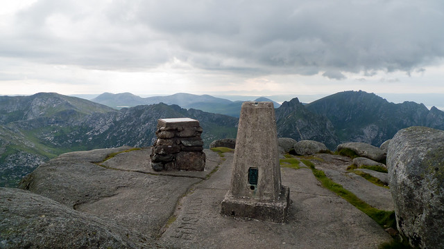 The summit of Goatfell