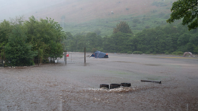 Floods at Lochranza campsite