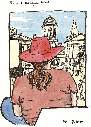 the girl in the red hat