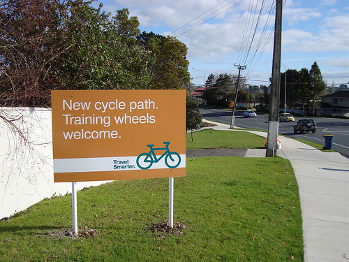 New cycle path. Training wheels welcome.