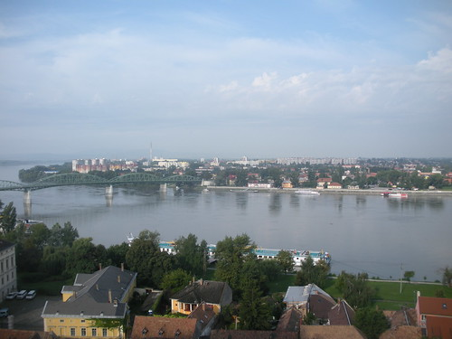 View of the Danube from the Esztergom basilica