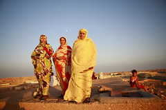 Saharawi Refugees at Sunset