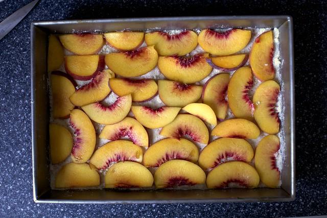 peaches, tiled