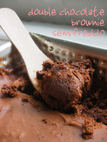 double chocoalte brownie semifreddo