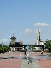 外埔漁港 附近的噴水池