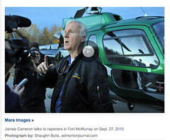James Cameron, storyteller & Avatar director, puts focus on Alberta Oilsands
