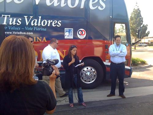 "Coco delivering her ""speech"" in Camarillo"