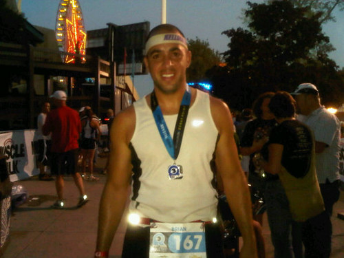 Swem after his Ironman Triathalon