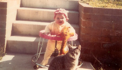 Miriam with Tiddles April 71