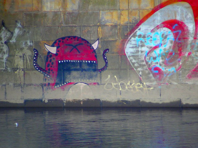 Ask face on River Taff