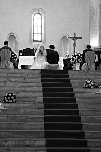 Bride and groom at an Italian wedding