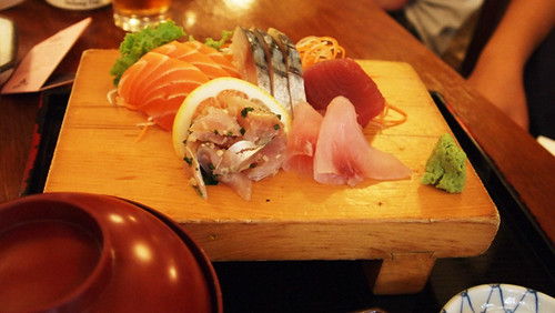 Sashimi set at Aki