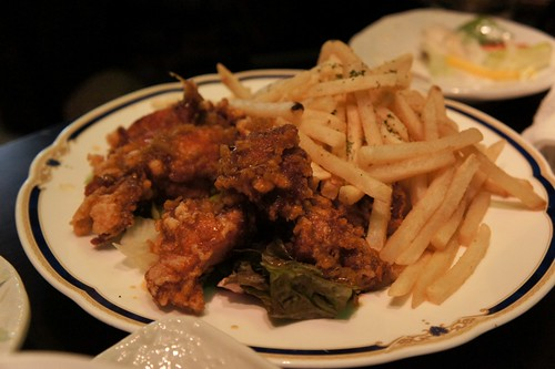 fried chicken and fries