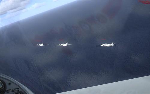 Volando en formación - 3 Baron 58 + Extra 300 (Camarógrafo)