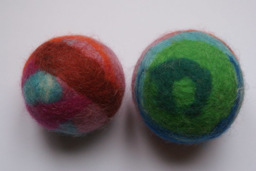 Wet-felted Toy Balls