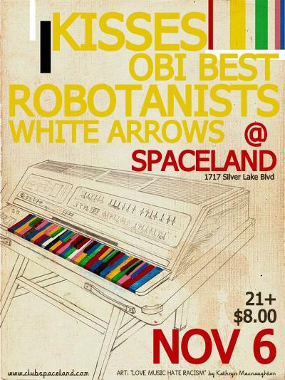 ROBOTANISTS @ Spaceland / Los Angeles, CA / 11.06.2010