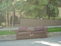 Slanty hillside couch.