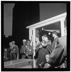 [Portrait of Louis Armstrong and Jack Teagarde...