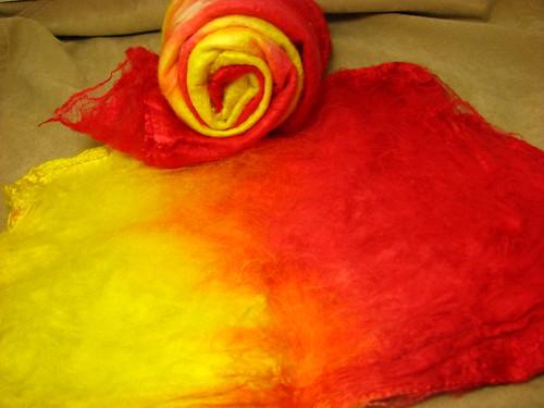 Flame - Mawata Silk Hankie Set