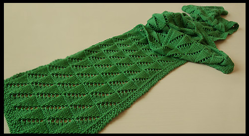 green scarf finished, on me