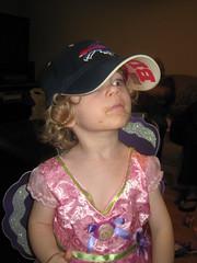 Princess dress and Bills hat