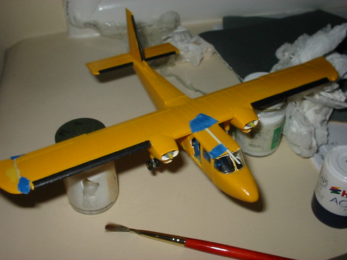 Airfix Islander with styrene filler added