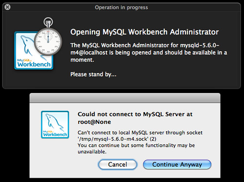 Open a MySQL Instance