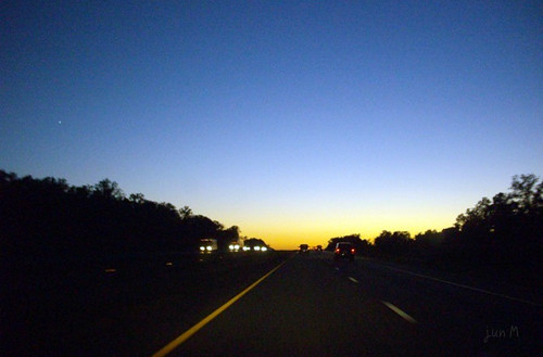 highway sunset