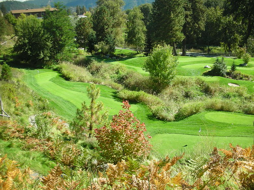 Enzian Falls Golf Putting Course in Leavenworth, Washington