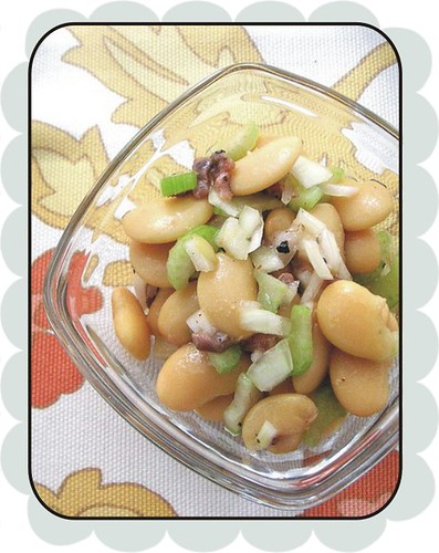 butter beans w celery and anchovy