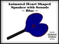 Heart Shaped Spanker - Blue