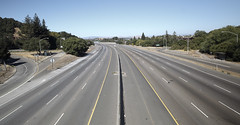 highway, empty, no cars, clean, 6-lane highway, lanes, road, freeway,
