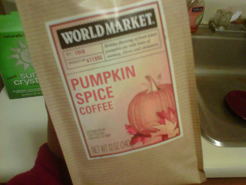 Pumpkin spice coffee!