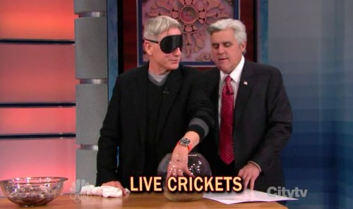 Mark Harmon and watch strap on Leno