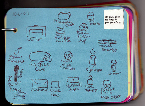 draw what's in your bag