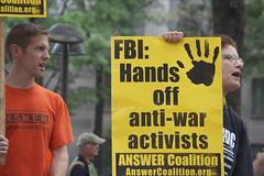 Protest of FBI Raids on Anti-War Activists