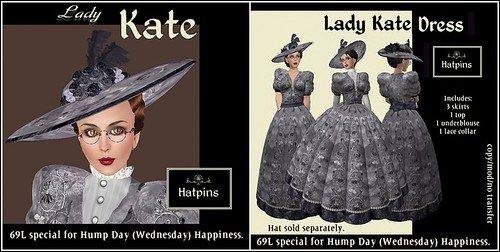 Hatpins - HDH - Lady Kate Hat and Dress