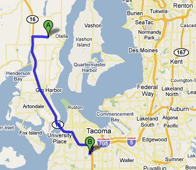 OLALLA TO TACOMA MALL - 20.9 MI