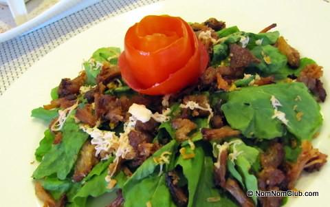 Arugula Salad with Toasted Flakes