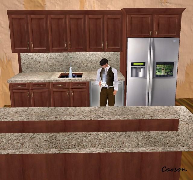 BLN Modern Kitchen-Mahogany Balani