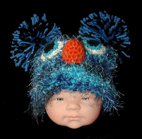 baby blue bird hat front
